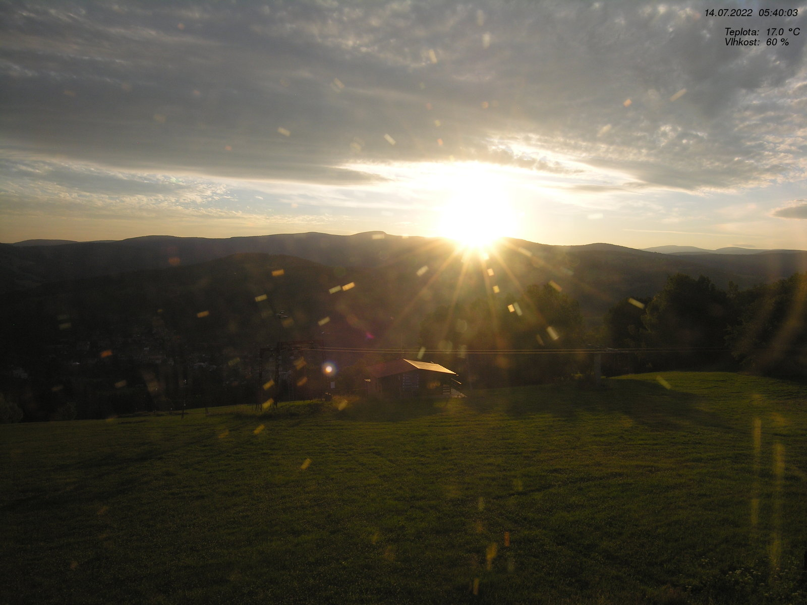 Webcam Ski Resort Rokytnice n. Jizerou Blick auf Lysa Hora & Kotel - Giant Mountains