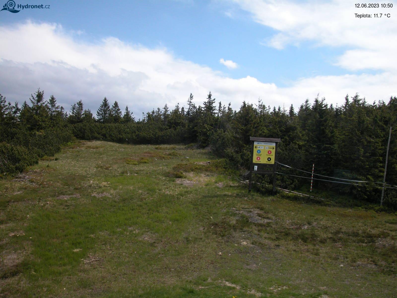 Webová kamera Lysá Hora - pohled na sever
