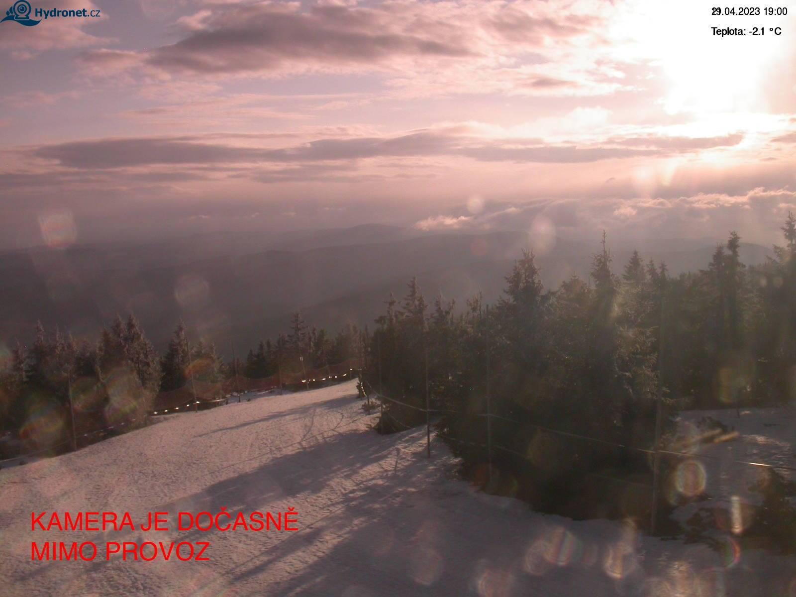 Webcam Ski Resort Rokytnice n. Jizerou Piste - Giant Mountains