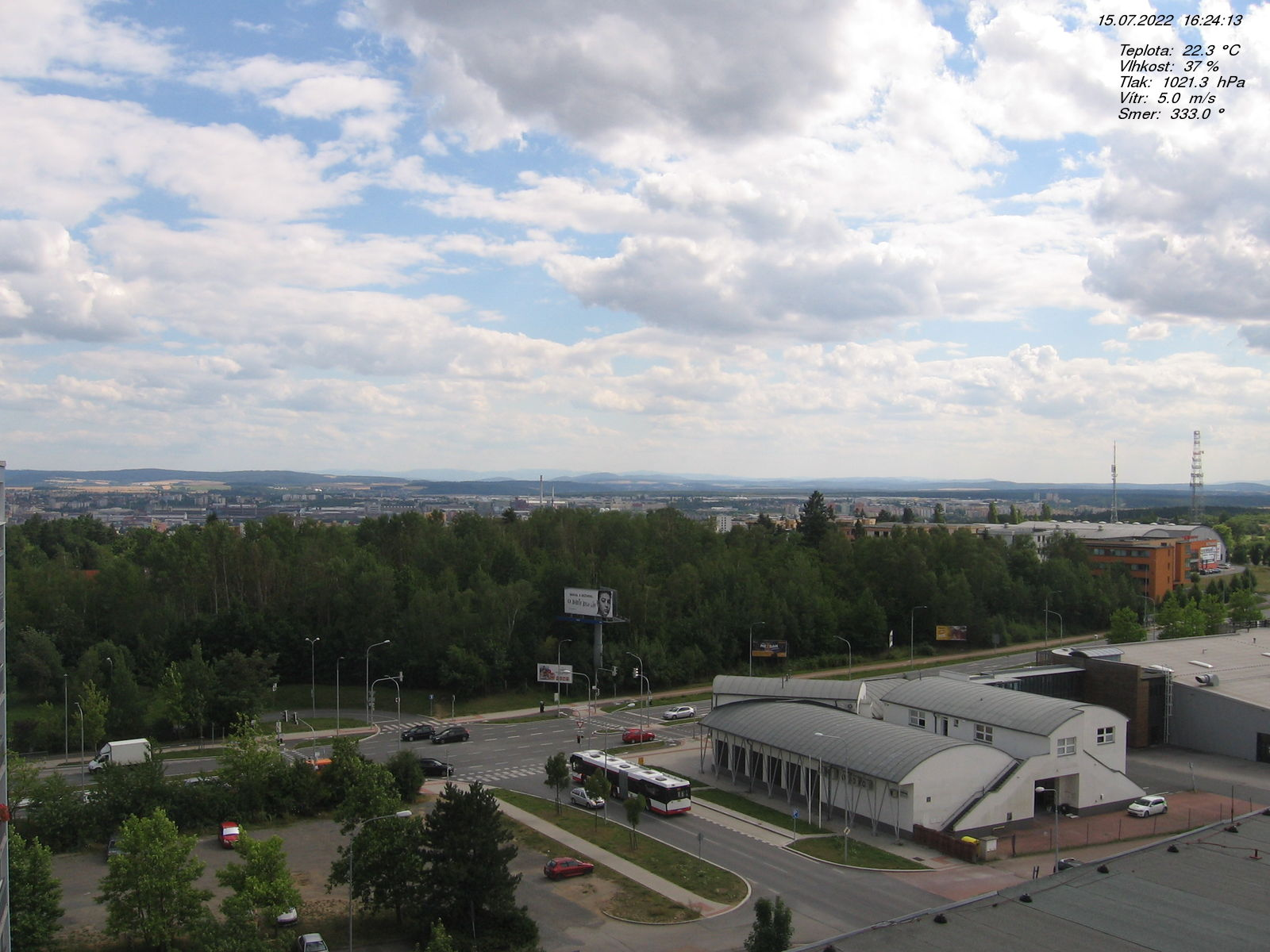 Webkamera v Plzni Košutce