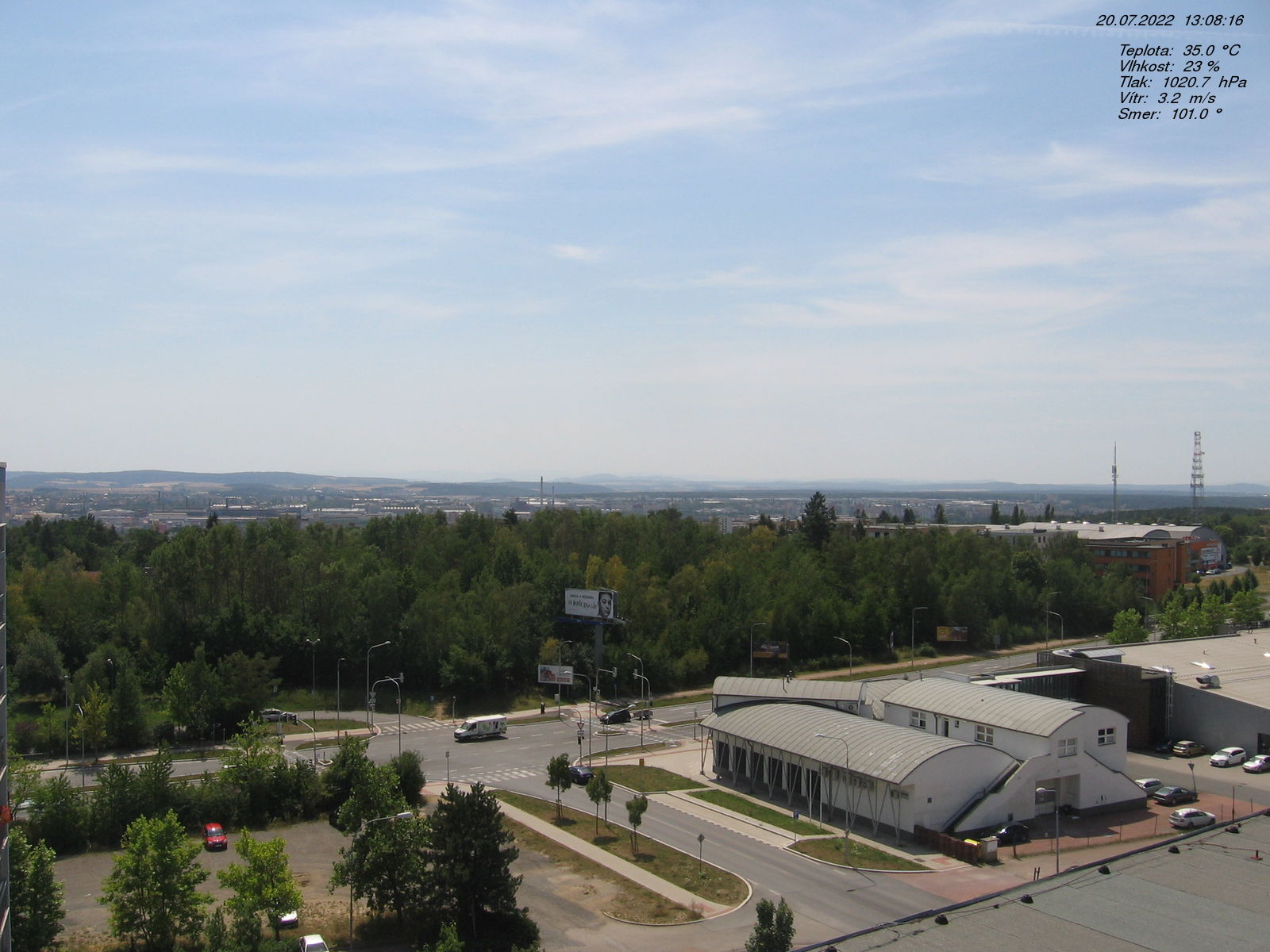 Webkamera v Plzni na Košutce